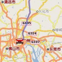 广东广州至竞博国际娱乐自驾车行车路线(动画演示)