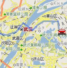湖北武汉至竞博国际娱乐自驾车行车路线(动画演示)